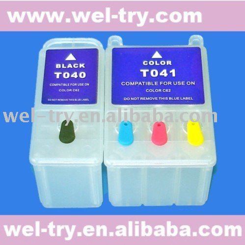 (T040,T041) refillable ink cartridge for EPSON C62/CX3200