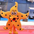 Hola orange starfish mascot costumes for sale/ new design starfish mascot costume for adults