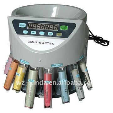 Coin Sorting Machine with coin tube