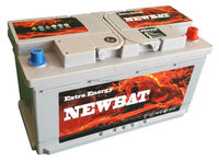 "12 V 80 Ah MF Maintenance Free ""Newbat Brand"" Car Battery from Turkish Aku manufacturer"