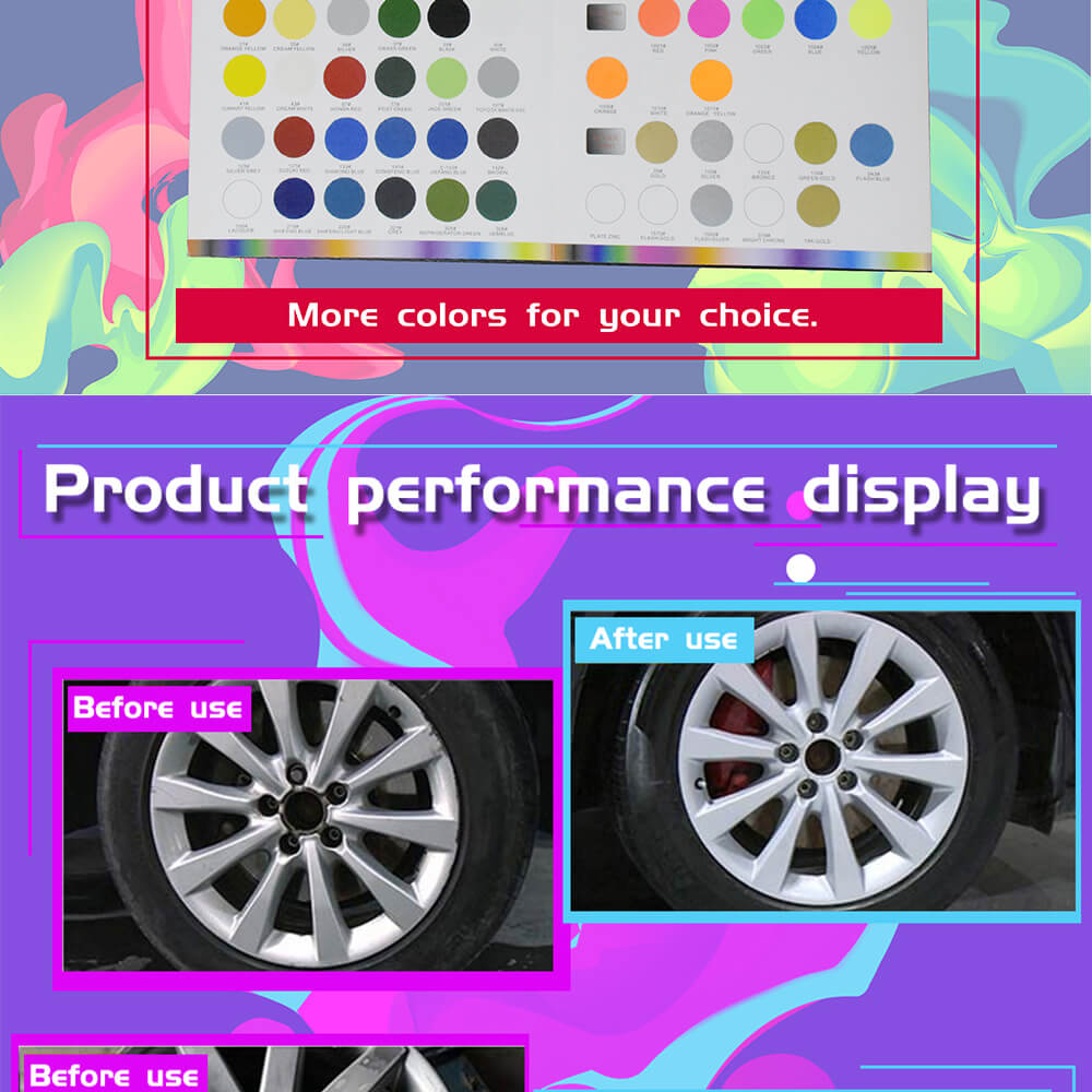 Spray Coating Car Multi-purpose aerosol Graffiti Metallic wheel hub reflective acrylic spray paint
