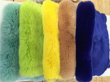 Factory direct supply 100% real rex rabbit fur skin dyed for rex rabbit fur coat / hat / blanket