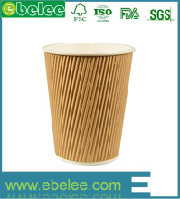 Take away single wall white paper coffee cups