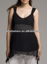 2014 Sexy Chiffon Women Formal Blouse Designs