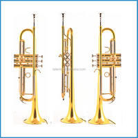 Trumpet standard model, Bb trumpet China, trumpet gold lacquer
