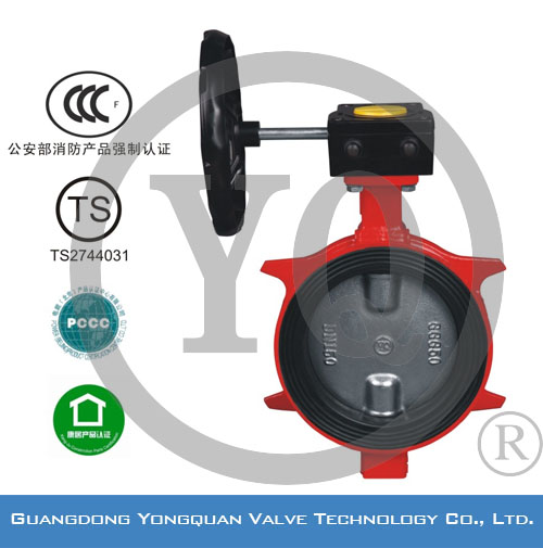 "ZSDF-B Worm Gear Operated Lug Type Concentric Rubber Lined Butterfly Valve, DN 2""-12"", PN 1.6/2.5 MPa, with CCCf and TS"