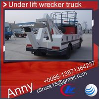 dongfeng 3tons tow and lift wrecker truck,under lift wrecker truck with platform