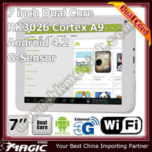 Cheapest dual core 7 inch video call android 4.2 smart tablet