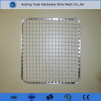 Food Grade 304 stainless steel crimped wire netting for bbq grill