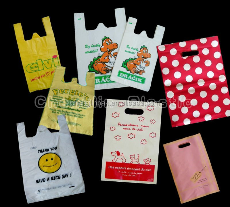 hdpe plastic printed shopping bags