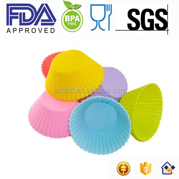 China supplier Hot sale Muffin Cup Silicone Cake Mould