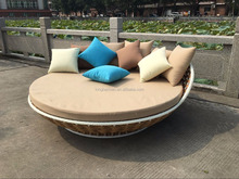 Cheap Garden Outdoor Furniture Rattan Round Hanging Bed Outdoor Rattan Hanging Daybed