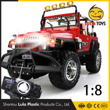 4CH Electric RC Cars Machines On The Remote Control Cars Toys For Boys Children Gifts Flash Lights Gravity Rc car 1/8 Scale
