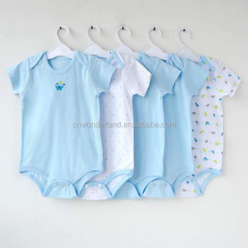 new born toddler clothing kids summer cotton romper customized unisex baby romper