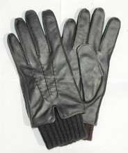 Knitted cuff sheep leather gloves tight skin leather gloves with special accessories