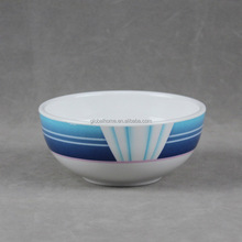 white color melamine cereal bowl with color edge