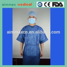 Cap+face mask+gown+shoe cover disposable surgical gown set