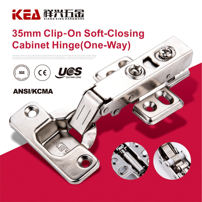 [K15] 35mm Cup Clip On Soft- Closing Hydraulic Hinge Concealed Furniture Hinge (one way )