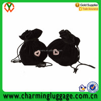 velvet jewelry necklace drawstring bag for ladies
