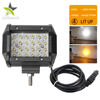 Flashing 4 Inch 12 Volt Dual Color 4X4 Warning 4 Row Amber Wholesale Offroad New Led Strobe Bar Light