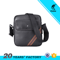 Durable used PU leather men messenger shoulder bags with adjustable shoulder strap