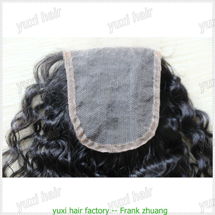 virgin peruvian hair silk base closure