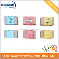 Wholesale paper sleeve soap paper box kraft paper packaging sleeve for handmade soap