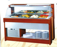 Commercial salad bar / counter top display refrigerator