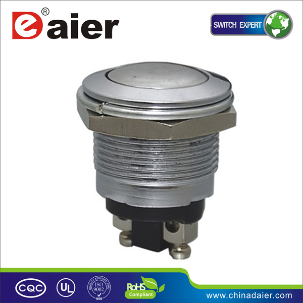 PBS-28B Domed 1 NO IP 65 or IP40 screw 19MM waterproof switch