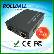 10/100/1000m 1x fiber port to 1 x rj45 copper port single mode sfp media converter 10-120km