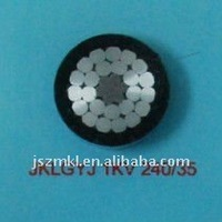 Aluminium conductor steel core reinforcement, XLPE insulated, aerial cable