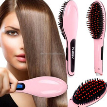 2017 straight ceramic hair straightening irons Electric LCD fast hair straightening brush