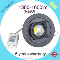 15w gimbal LED downlight for clothing scene lighting