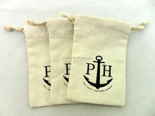 new brand style high quality drawstring cotton pouch
