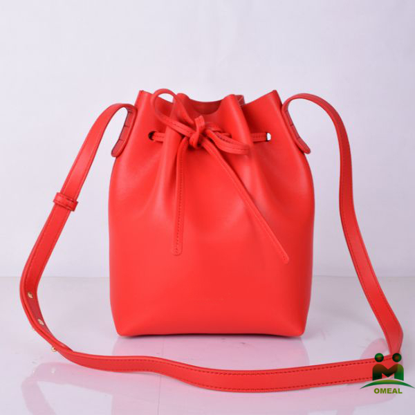 high quality red leather drawstring bucket bags women designer hobo purse C2-293 dropship fast delivery