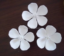 Handmade Craft White Porcelain Flowers For Decoration Wholesale