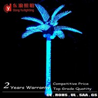 Decorative Fake Palm/coconut Trunk Led Tree Lighting 3m Artificial Plant