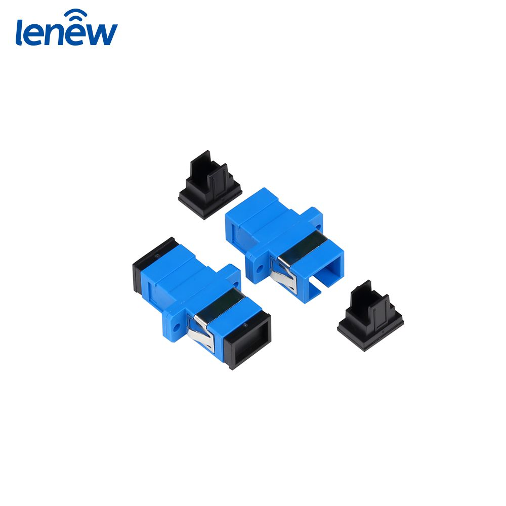 Blue Color SC SM SX PC/UPC Optic Fiber Adapter Importance Of Communication