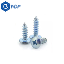 China screw manufacturer Galvanized large head self tapping screw