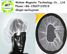 nylon disposable stretch hair net with elastic