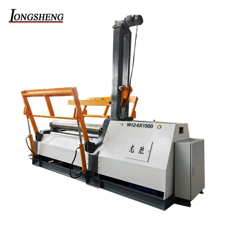 ce certificate factory price w12 automatic hydraulic CNC 4-roller metal sheet hydraulic plate rolling machine
