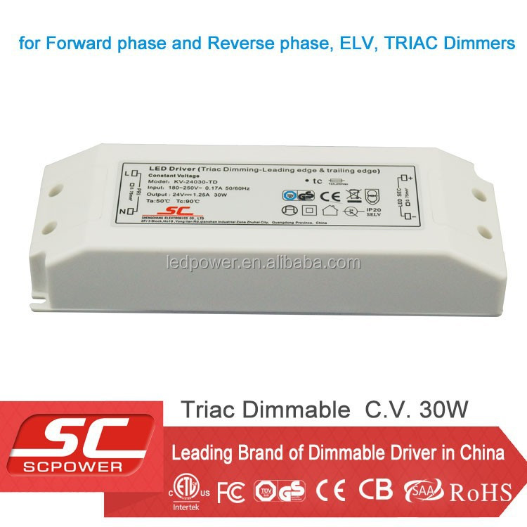 KV-12030-TD LED 30W triac dimmable driver for led strip light use hot new products for 2015