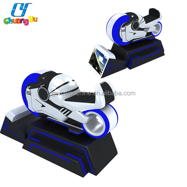 Attractive design dynamic motion platform 9d virtual reality games vr motorcycle racing simulator
