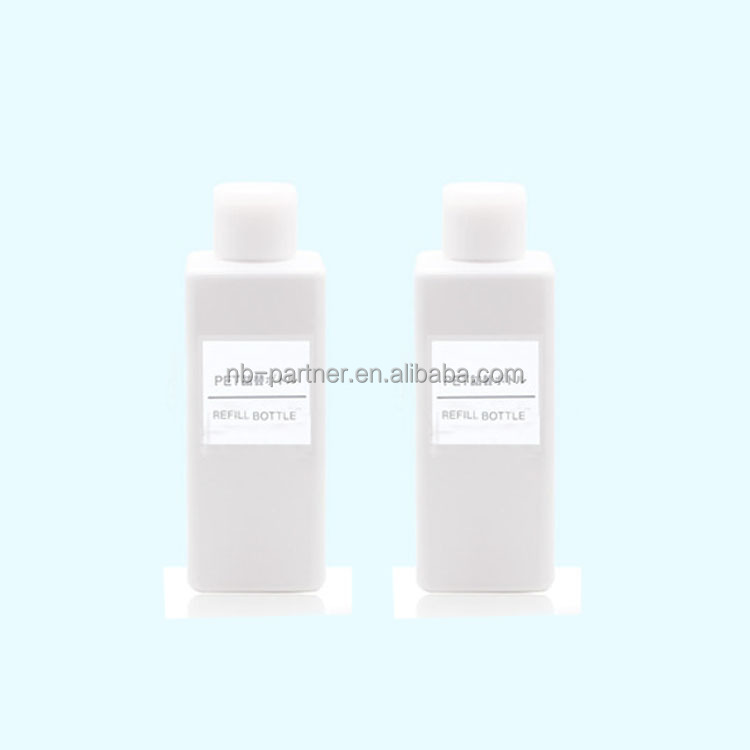 200ml 250ml plastic white square bottle recycling / refillable bottle with screw cap