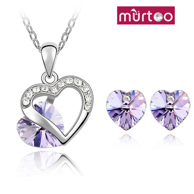 Murtoo Bijouterie Brand New Accessories Necklace Earring Sets Crystal