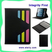 Modern Stylish Dormancy PU Leather Stand for ipad 6 pu leather printing case