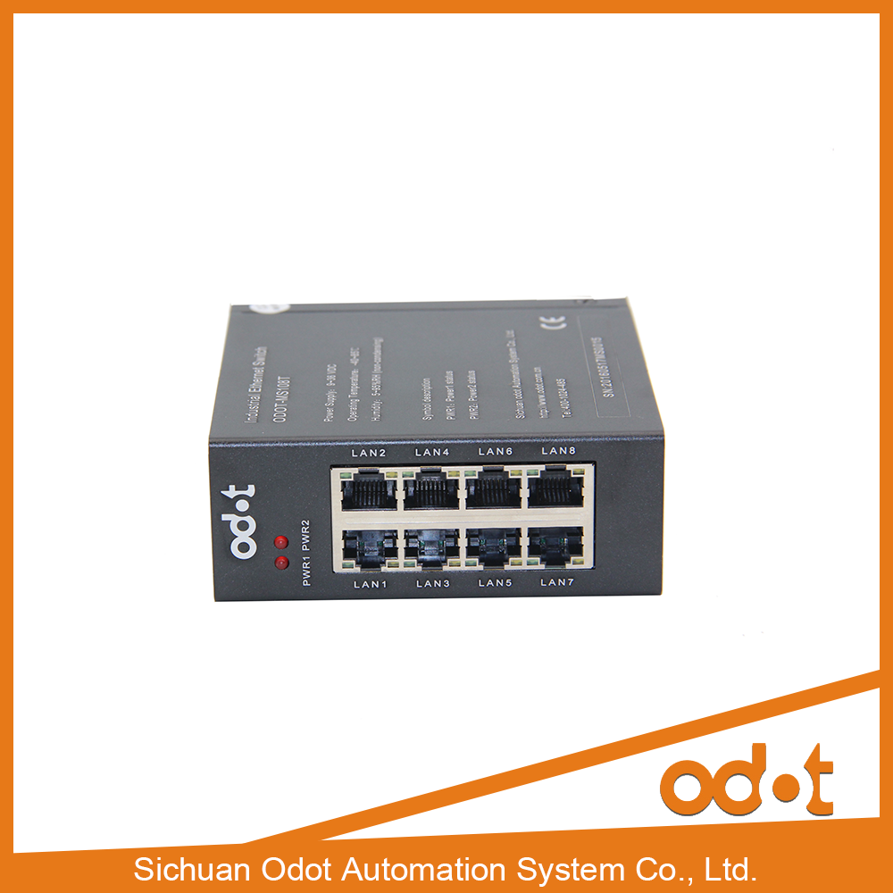 8 port 10/100M Unmanaged industrial Ethernet Switches supports MDI/MDIX auto-sensing