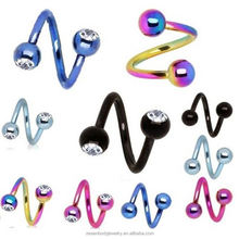Top selling OEM design twister ring body piercing from manufacturer