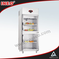 Upright Stainless Steel 2 Doors Beverage Cooler/Retail Beverage Cooler/Commercial Beverage Cooler