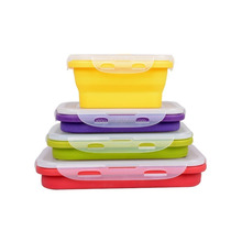 Silicone collapsible Food Storage Containers of set of 4